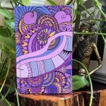 Peaceful moments journal purple heart - front