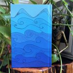 Peaceful moments journal - blue waves