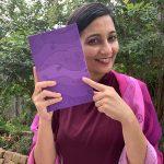 Abundant thoughts journal - purple clouds