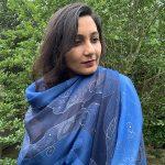 Shining star in modal Night sky scarf