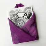 I am infinite art print enveloped with purple square scarf