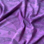focused cosmic violet square scarf
