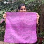 square cosmic purple bandana