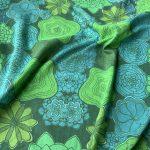 focused flowers scarf - green