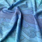 square flowers blooming scarf - ocean blue