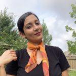 Organic cotton sunrise orange bandana