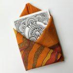 peace art print design, enveloped with orange bandana
