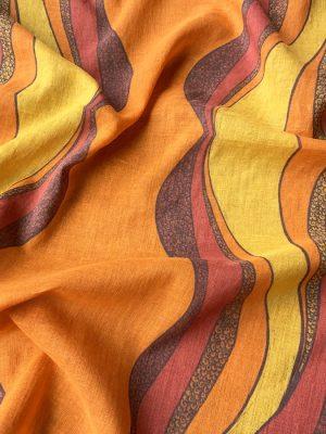 square sunset orange bandana