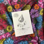 timeless beauty flower bandana and mini art print