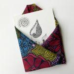 mini art print enveloped with square scarf